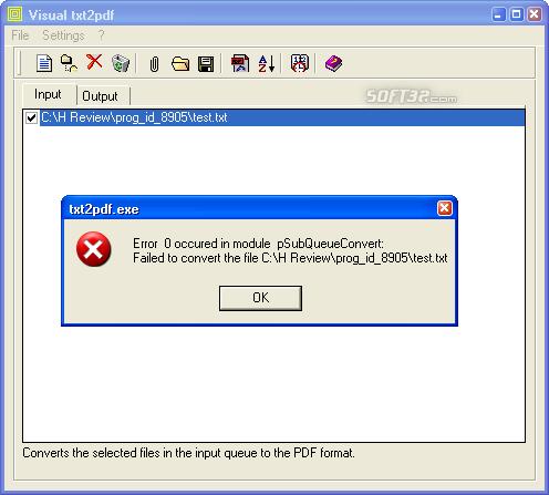 txt2pdf Screenshot 6