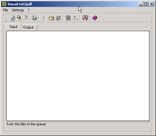 txt2pdf Screenshot