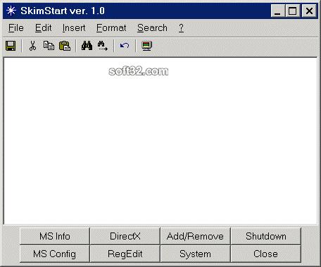 SkimStart Screenshot