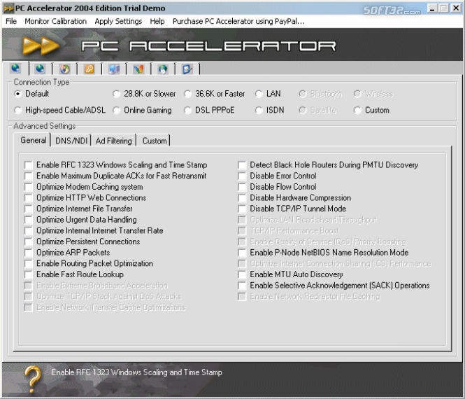PC Accelerator 2005 Edition Screenshot 3