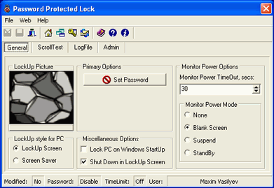 Password Protected Lock Screenshot