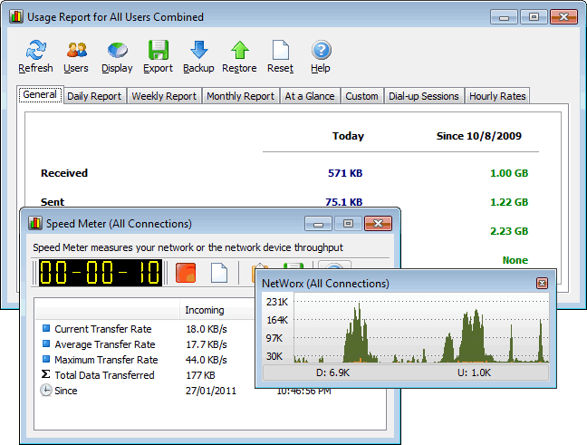 NetWorx Screenshot