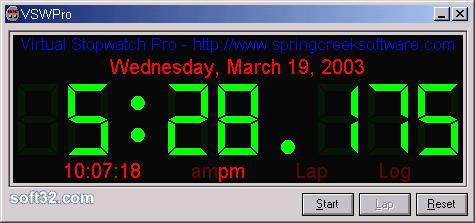 Virtual Stopwatch Pro Screenshot 2