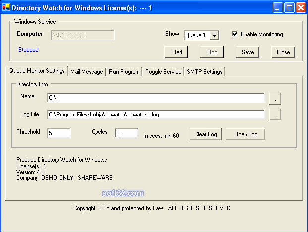 Directory Watch Screenshot