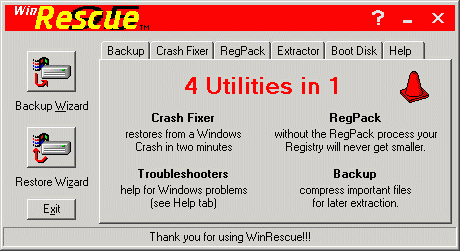 WinRescue 95 Screenshot