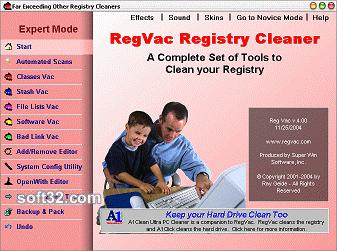 RegVac Registry Cleaner Screenshot 3