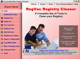 RegVac Registry Cleaner Screenshot