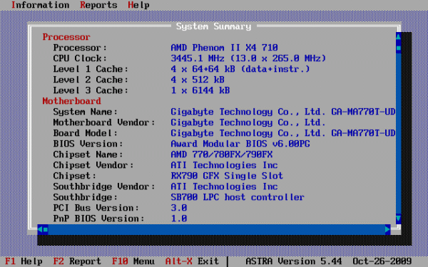ASTRA - Advanced Sysinfo Tool Screenshot 1