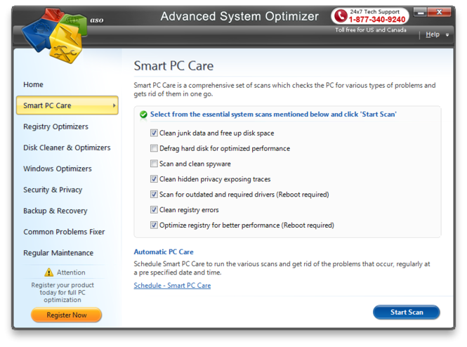 Advanced System Optimizer Screenshot 2