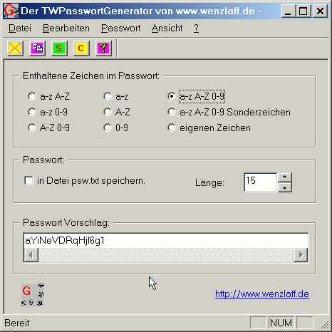 TWPassGen Screenshot