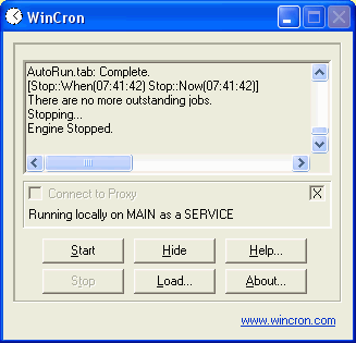 WinCron Screenshot 1