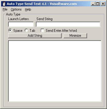 Auto Type Screenshot