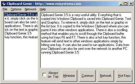Clipboard Genie Screenshot