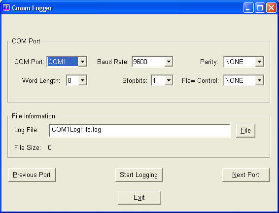 Comm-Logger Screenshot
