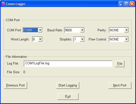 Comm-Logger Screenshot 1