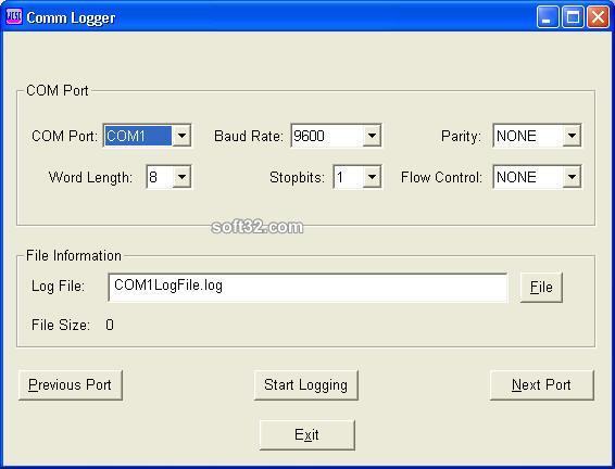 Comm-Logger Screenshot 2