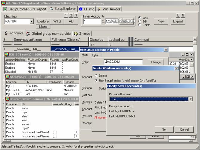 AdmWin Screenshot 3