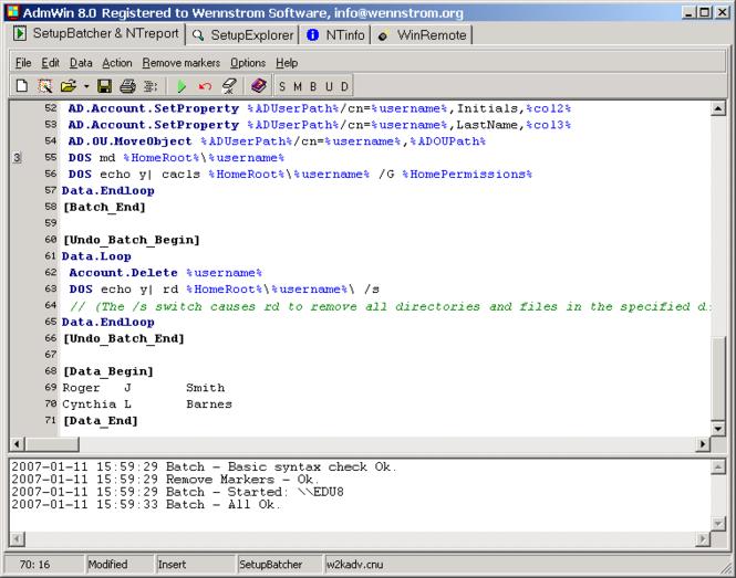 AdmWin Screenshot 1