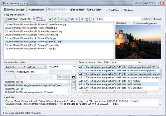 BatchRename Pro Screenshot