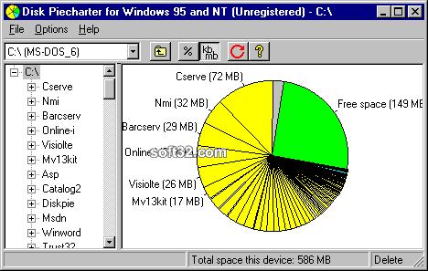 Disk Piecharter Screenshot 2