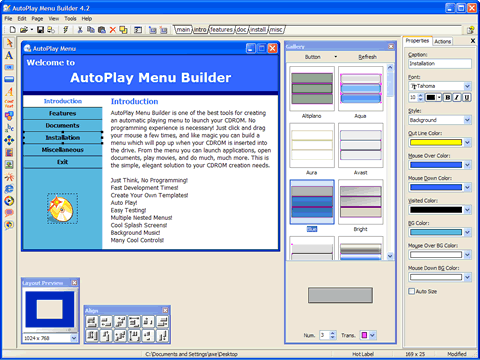 AutoPlay Menu Builder Screenshot