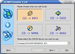 EZ MP3 Creator Screenshot 1