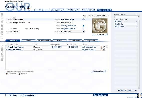 CustomerBase Screenshot 1