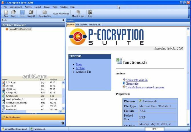P-Encryption Suite Screenshot 1