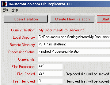IDAutomation File Replicator Screenshot