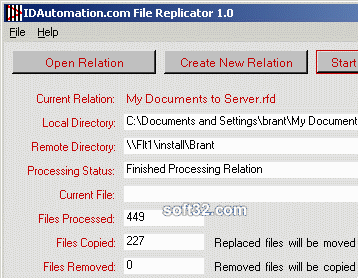 IDAutomation File Replicator Screenshot 3