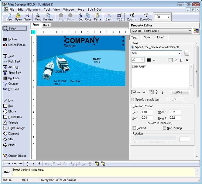 Print Designer GOLD Screenshot 1