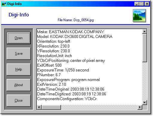 Digi-Info Screenshot