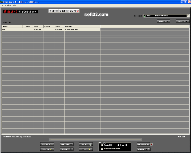 Blaze Audio RipEditBurn Screenshot 5