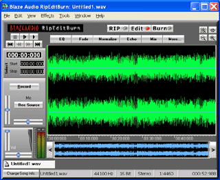 Blaze Audio RipEditBurn Screenshot