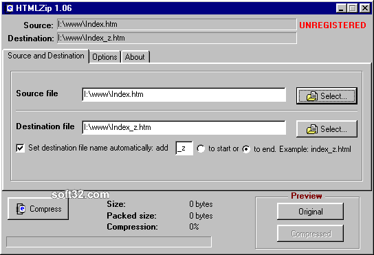 HTMLZip Screenshot 3