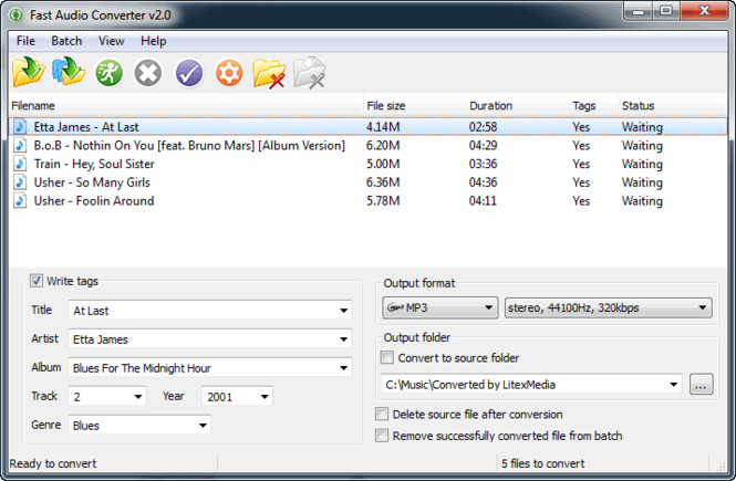 Fast Audio Converter Screenshot