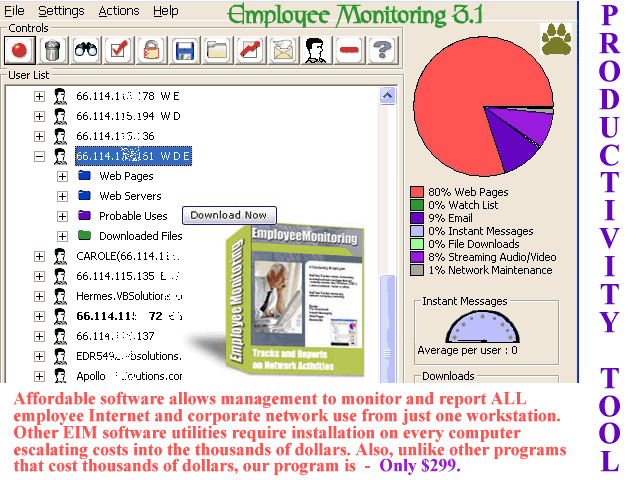 Employee Monitoring Screenshot