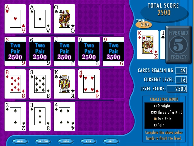Five Card Frenzy Screenshot