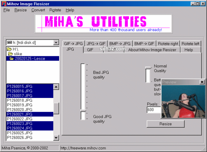 Mihov Image Resizer Screenshot 3