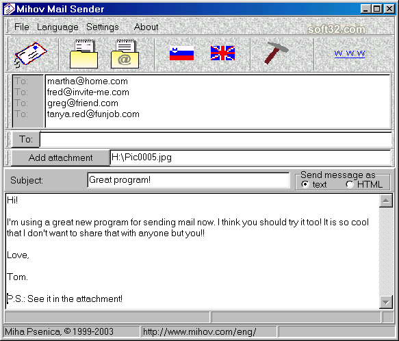 Mihov Mail Sender Screenshot 3