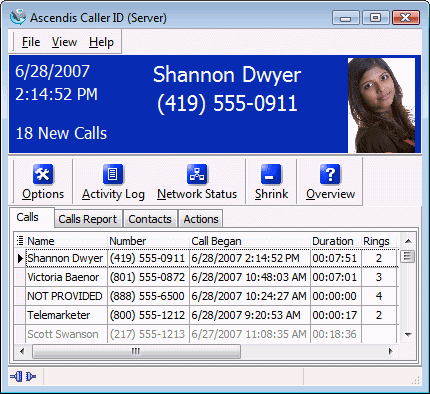 Ascendis Caller ID Screenshot 1