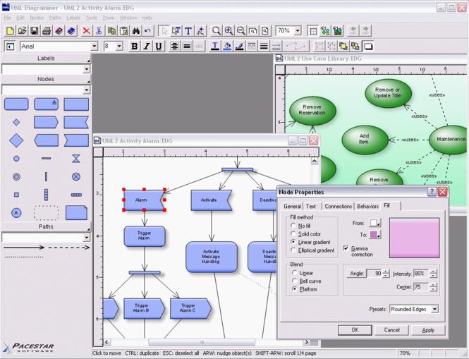 Pacestar UML Diagrammer Screenshot 1