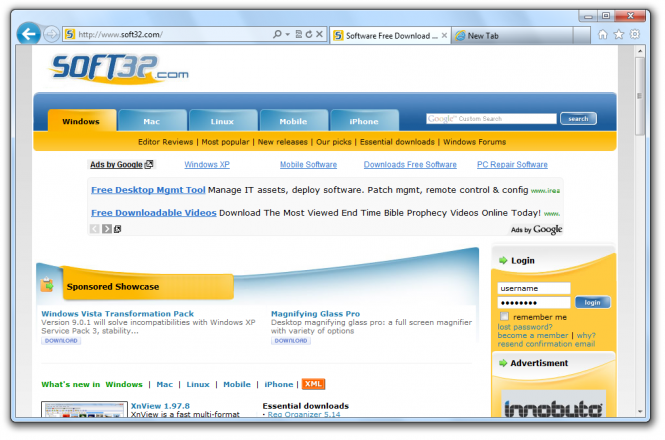 Internet Explorer 9 screenshot