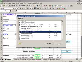 GeneralCost Estimator for Excel Screenshot