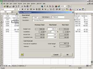 JobCost Controller for Excel Screenshot 1