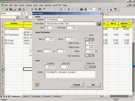 RoofCOST Estimator for Excel Screenshot