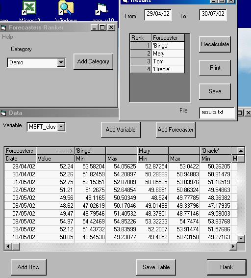 Forecasters Ranker Screenshot
