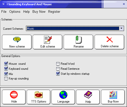 Sounding Keyboard and Mouse Screenshot