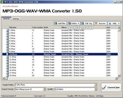 MP3-OGG-WAV-WMA Converter Screenshot 2