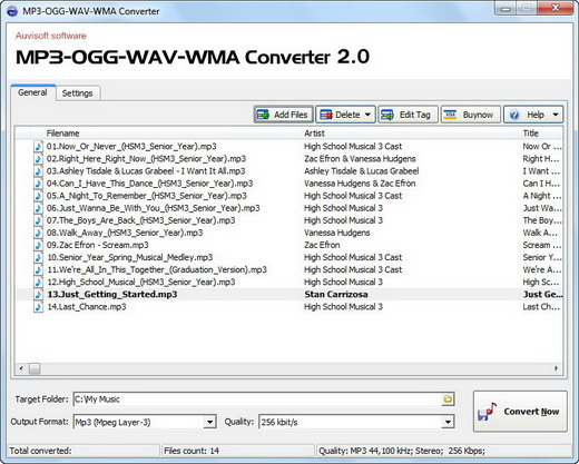 MP3-OGG-WAV-WMA Converter Screenshot